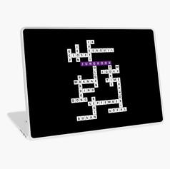 jk crossword laptop skin