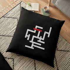 hoseok crossword floor pillow