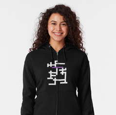 jk crossword zipped hoodie