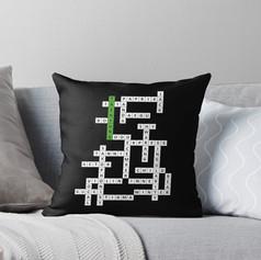 tae crossword pillow