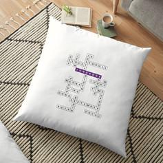 jk crossword floor pillow