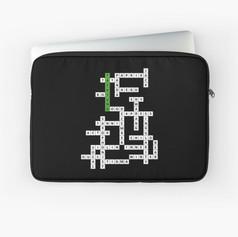 tae crossword laptop sleeve