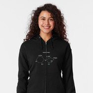tae compound zipped hoodie