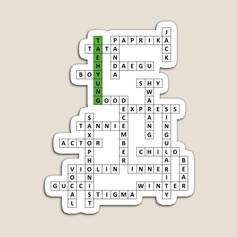 tae crossword magnet