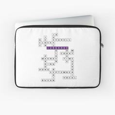 jk crossword laptop sleeve