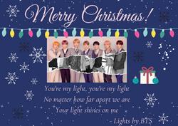 Lights Christmas card