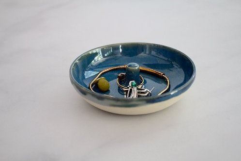 Oasis blue ring dish