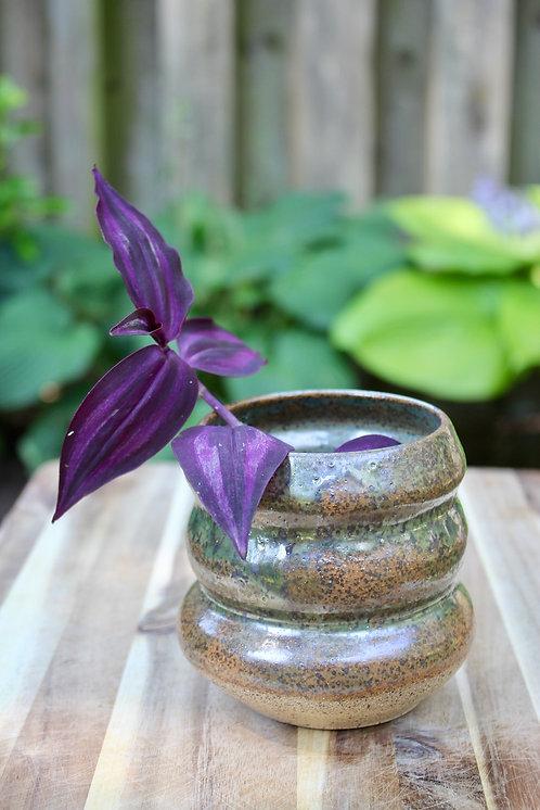 Speckled  metallic planter