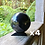 Thumbnail: 4 x 8cm Polished Shungite Sphere (w/ Small Stand)