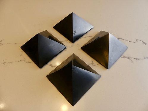 4x 7cm Polished Shungite Pyramid (Save $30)