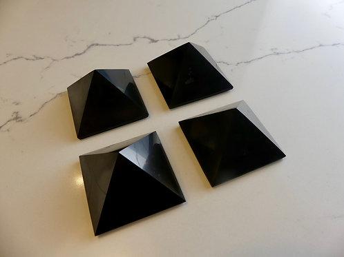 4x 5cm Polished Shungite Pyramid (Save $20)
