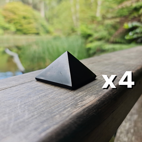 4x 5cm Polished Shungite Pyramid (Save $20)