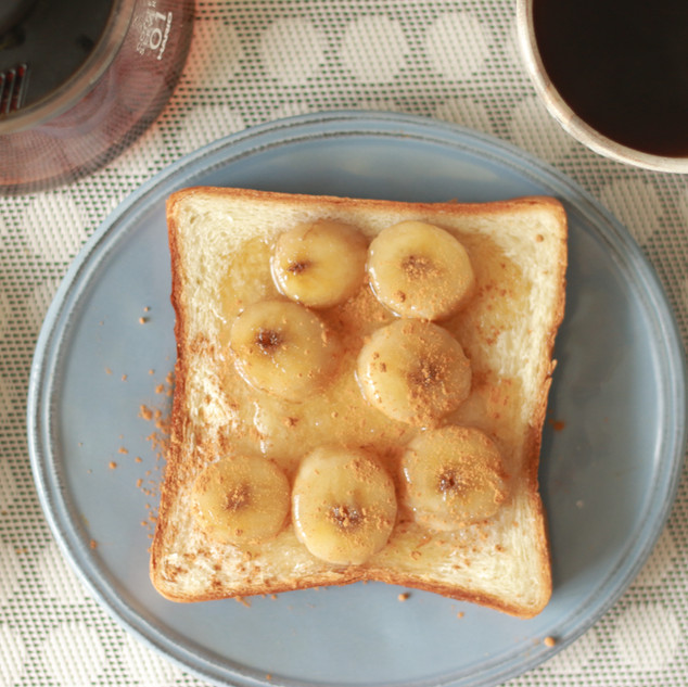 バナナとシナモンの朝