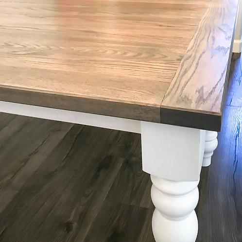 Turned Leg Dining Table