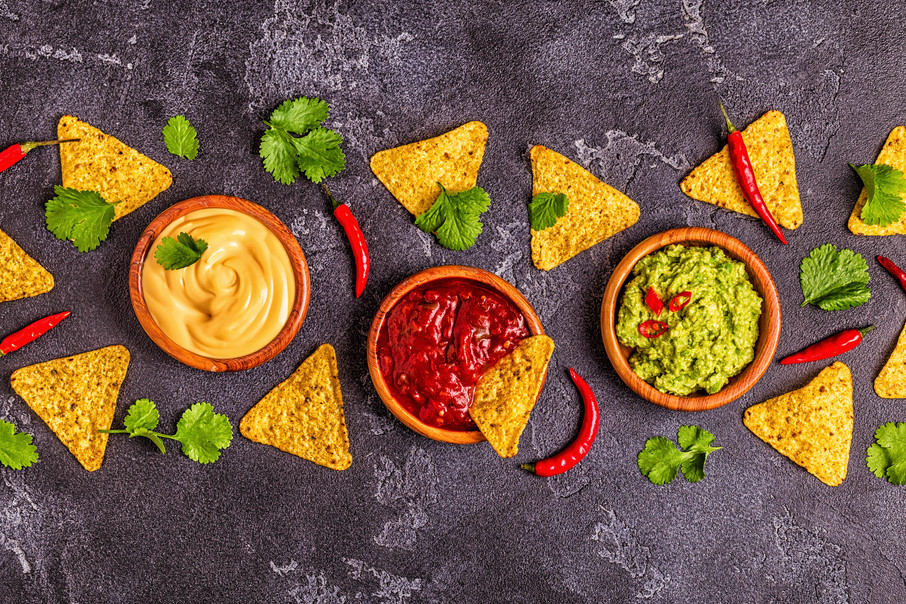mexican-food-background-guacamole-salsa-