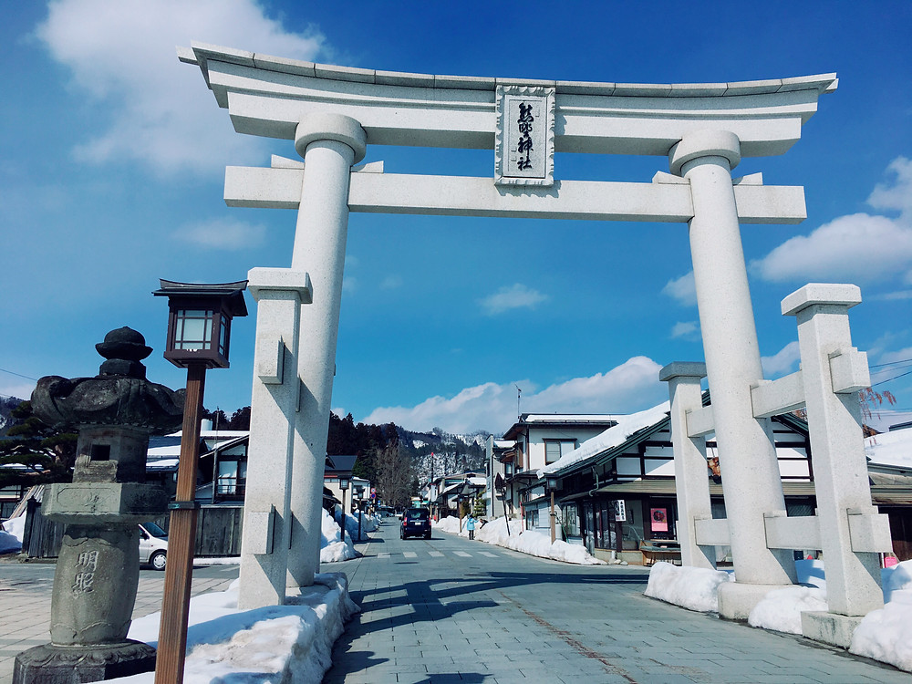 2017/1 熊野大社参道前