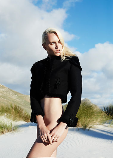 cape town editorial story fashion womenswear menswear gender sand beach blacksuits dress dior kenzo