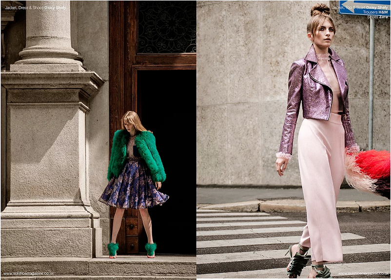 Milan fashion story subway metro editorial womenswear fur model