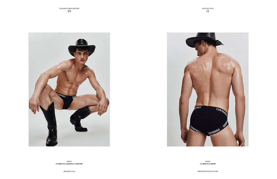 Man of Metropolis editorial cover story phillip plein dsqaured2 hunk male muscle fashion story tougher than leather sex