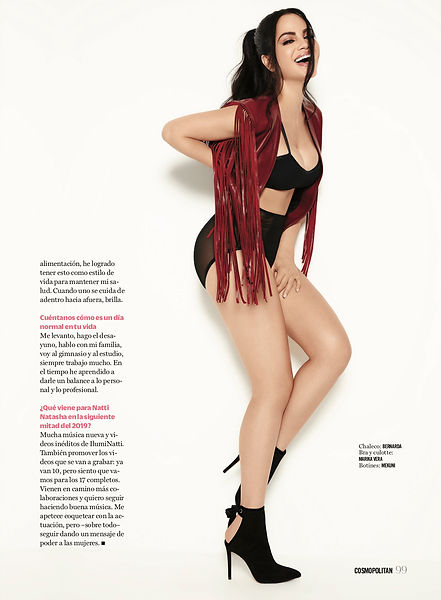 Cosmopolitan fashion magazine editorial front cover natti natasha bulgari mexico city singer regaton cosmo