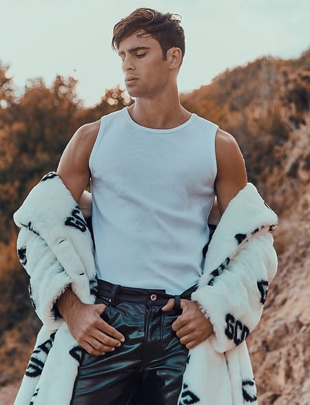 elliot Meeten mmscene cover stoy rebel missoni fasion editorial menswear fahion style styling london top model dsqaured gcds diesel liam hodges beach farm shoot goin west story