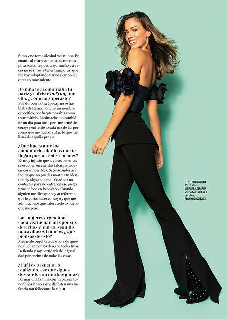 cosmopolitan argentina cover story editorial glitter party dress rocio robles fashion benito santos