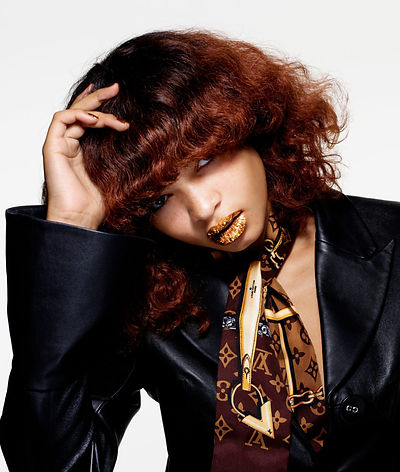 Hunger lips and fringe story editorial rankin fashion makeup beauty louis vuitton gcds