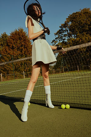 Wonderland Tennis story editorial preppy fashion retro futuristic dior gcds phillip plein gentle monster next models prm what a racket