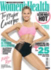 womens health magazine cover story natalie roser gym healthy nike puma fit beach body editorial