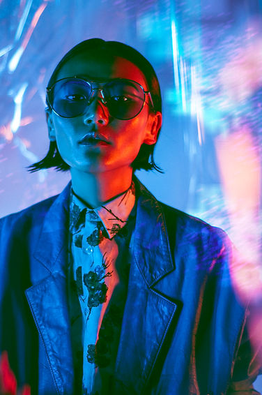 nightlight vulkan chinese story fashion editorial neon lights kenzo