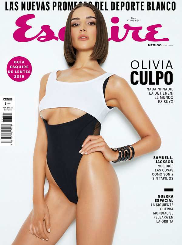 Esquire latin america mexico olivia culpo swimwear trend fashion bulgari white top black swimear watch fashion styling editorial woman celebrity model miss universe america