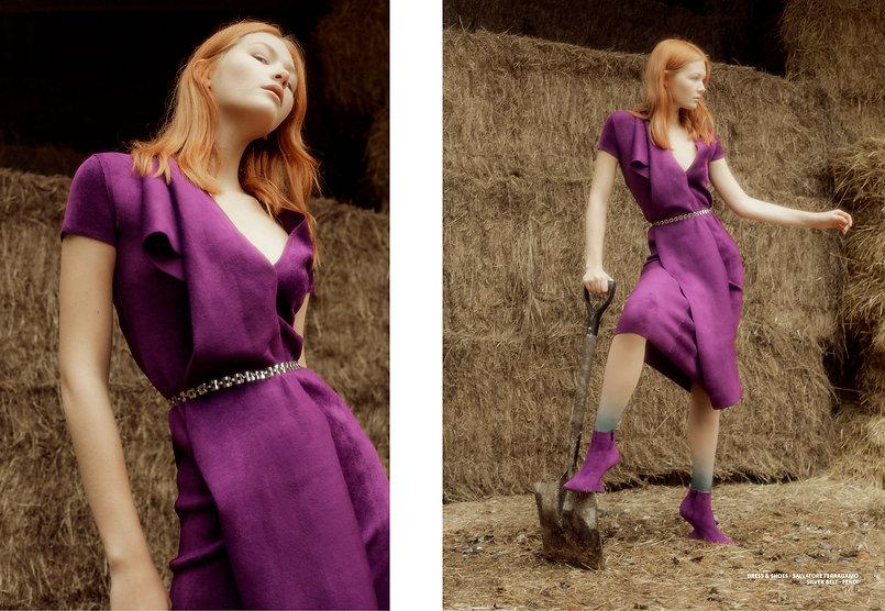 just magazine farm girls gucci female womenswear women couple fashion style styling farm ferragamo cows