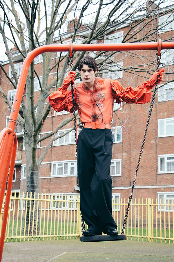 The Universe the greatest magazine italian milan winter fashion editorial story menswear mens style red louis vuitton swing