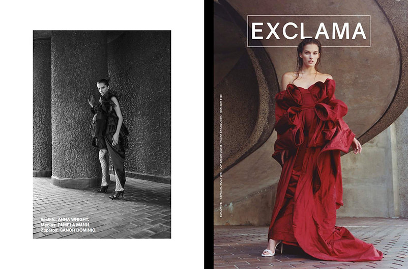 exclama fashion story cover story editorial nadine model ferragamo womesnwear style stylist women model martin grant givenchy ada zanditon