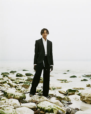 solar magazine editorial story fashion menswear mens fashion style stylist beach seaside gcds gucci martin grant black model black male fashion  dsqaured2 dsqaured les hommes