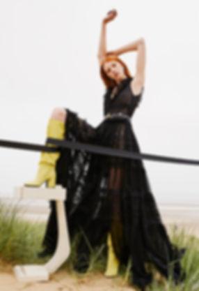 solar beach story editorial womens fashion style styling spanish seaside phillip plein black story missoni grass louis vuitton dsqaured2 dsqaured vesace suit black sea