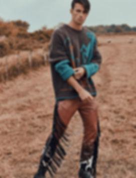 elliot Meeten mmscene cover stoy rebel missoni fasion editorial menswear fahion style styling london top model dsqaured gcds diesel liam hodges beach farm shoot goin west story