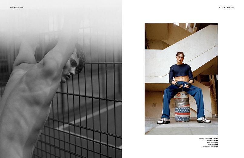 reflex homme happy boy story editorial sport fashion gucci levis addidas boxing male men menswear style styling calvin klein moschino vivinne westwood