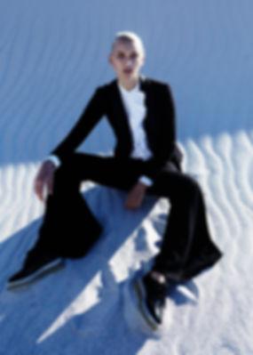 cape town editorial story fashion womenswear menswear gender sand beach blacksuits dress dior kenzo