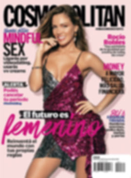 cosmopolitan argentina cover story editorial glitter party dress rocio robles fashion