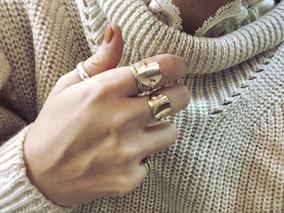 k10 Delicate signet ring