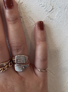 frank and easy sign ring