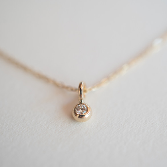 K10 Gold Petite Diamond Necklace