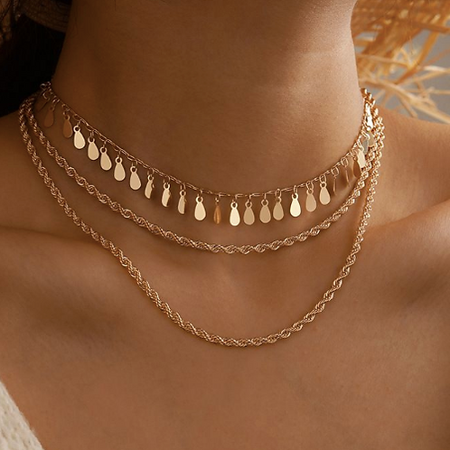 Queen of Sheba Layered Necklace Set