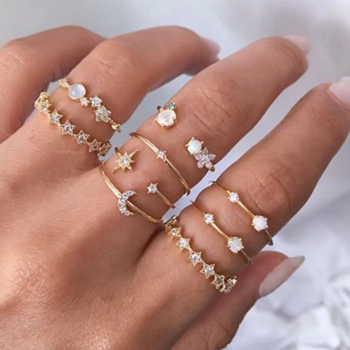 You're My Moon & Stars Ring Set
