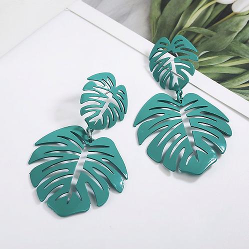 Palm Drop Down Earrings