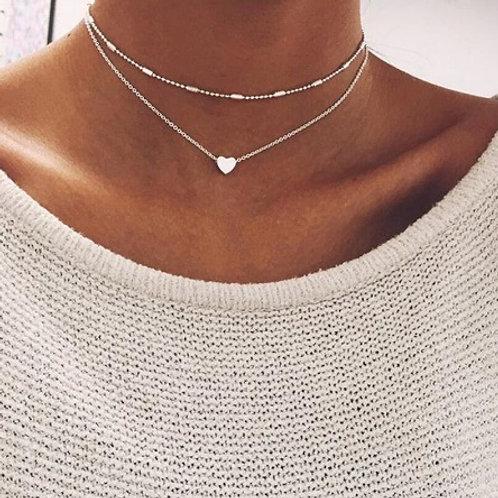 Tiny Heart Layered Necklace