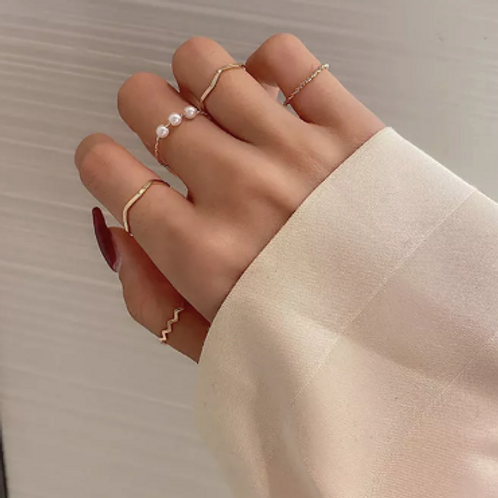 Honey Stackable Ring Set