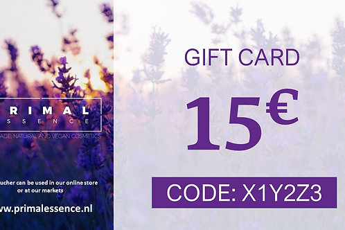 15€ Gift Certificate
