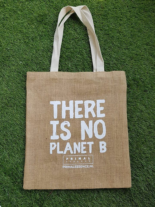 Jute Tote Bag - There is No Planet B